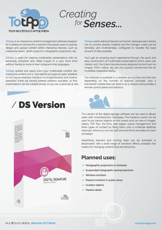 Touch Software Application - Download our brochures - TotApp